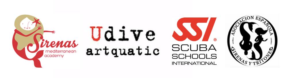 Logos Curso Mermaiding SSI Artquatic Sirenas