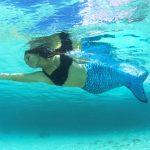 Cola Sirena azul mar