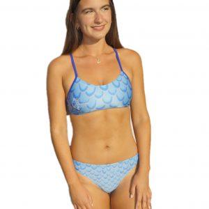 bikini deportivo sirena azul