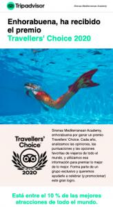 Sirenas Traveller's choice 2020 tripadvisor